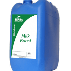 Big drum of milk boost mineral mix from Terra liquid minerals