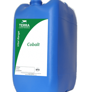 Large container of cobalt minerals for animals